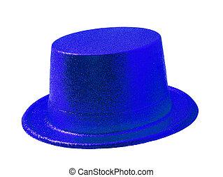 μπλε , απόκομμα , καπέλο , απομονωμένος , πάρτυ , άσπρο , path.