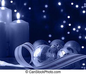 μπλε , βράδυ , xριστούγεννα