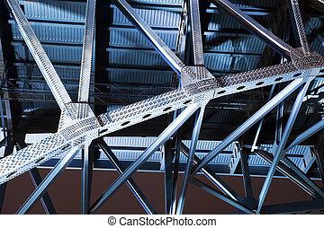 μπλε , γέφυρα , μέσα , cleveland