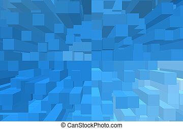 μπλε , γεωμετρικός , κύβος , φόντο