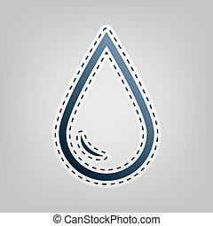 μπλε , γκρί , περίγραμμα , αναχωρώ. , σταγόνα , νερό , φόντο. , δηκτικός , vector., εικόνα , έξω