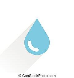 μπλε , γκρί , σταγόνα , νερό , σκιά , εικόνα