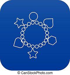 μπλε , γοητεία , μικροβιοφορέας , βραχιόλι , εικόνα