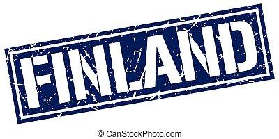 μπλε , γραμματόσημο , φινλανδία , τετράγωνο