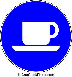 μπλε , διαθέσιμος , καφέs , σήμα