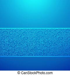 μπλε , διακοσμητικός , εικόνα , κύμα , φόντο. , μικροβιοφορέας , οριζόντιος