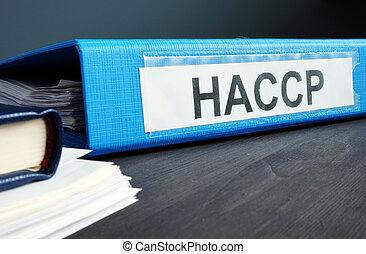 μπλε , διακόπτης , έγγραφα , haccp, κίνδυνοs , επικριτικός , ανάλυση , points., ντοσσιέ