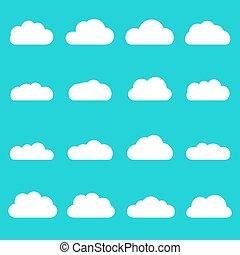 μπλε , διαμέρισμα , διαφορετικός , θαμπάδα , set., ουρανόs , απομονωμένος , εικόνα , αναπτύσσομαι , φόντο. , μικροβιοφορέας , ρυθμός , γελοιογραφία , σύνεφο , εικόνα