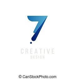 μπλε , διαμέρισμα , eps10, logotype., χρώμα , πρωτότυπο , αριθμόs , εικόνα , σήμα , μικροβιοφορέας , σχεδιάζω , 7 , ο ενσαρκώμενος λόγος του θεού , template.
