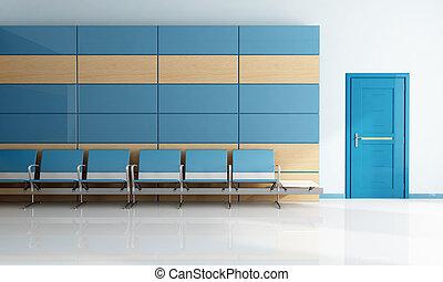 μπλε , δωμάτιο , μοντέρνος , αναμονή