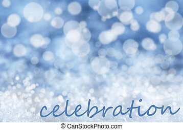 μπλε, εδάφιο,  bokeh, χιόνι, φόντο, Xριστούγεννα, εορτασμόs