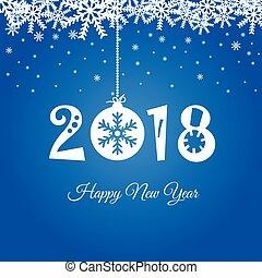 μπλε , εικόνα , 2018, έτος , καινούργιος , ευτυχισμένος