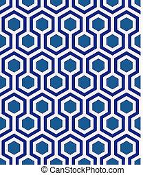 μπλε , εξάγωνο , seamless