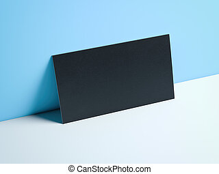 μπλε , επιχείρηση , απόδοση , μαύρο , studio., κάρτα , 3d
