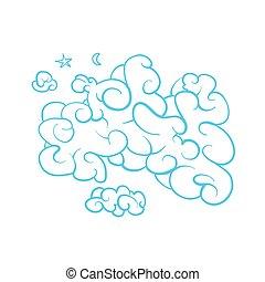 μπλε , ευφυής , κόμικς , σύνεφο