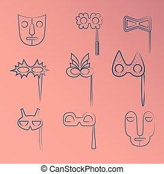 μπλε , θέτω , τέχνη , καρναβάλι , φυλετικός , αποκρύπτω , γραμμή