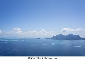 μπλε , θαλασσογραφία , ουρανόs
