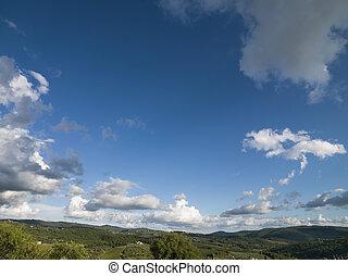 μπλε , θαμπάδα , ουρανόs , γκρί , tuscan , τοπίο