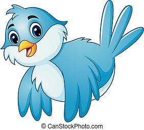 μπλε , ιπτάμενος , ουρανόs , πουλί