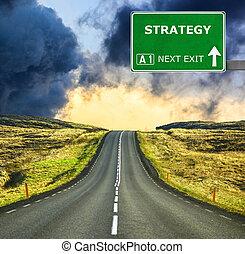 μπλε , καθαρός ουρανός , εναντίον , στρατηγική , σήμα , δρόμοs