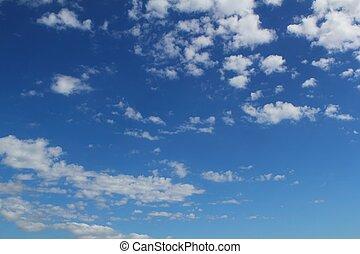 μπλε , καλοκαίρι , θαμπάδα , cloudscape , ουρανόs , φόντο
