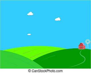 μπλε , καλοκαίρι , sky., αγρόκτημα αγρός , πράσινο