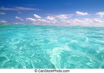 μπλε , καραϊβική θάλασσα , κύμα , νερό , ορίζοντας