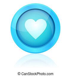 μπλε , καρδιά , κουμπί , μικροβιοφορέας