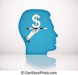 μπλε , κεφάλι , δολάριο αναχωρώ