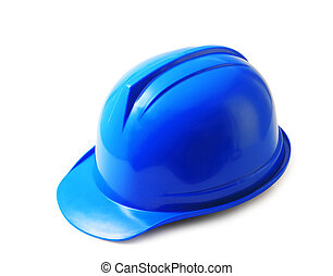 μπλε , κράνος , απόκομμα , καπέλο , σκληρά , απομονωμένος , ασφάλεια , άσπρο , path.