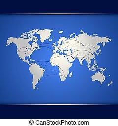 μπλε , κόσμοs , networking , χάρτηs