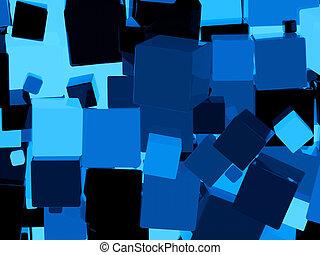 μπλε , κύβος , λαμπερός , φόντο