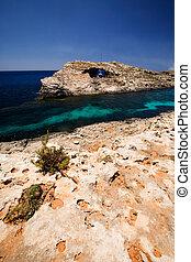 μπλε , λιμνοθάλασσα , gozo