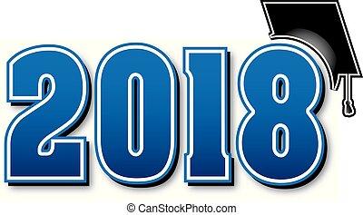μπλε , μεγάλος , σκούφοs , 2018, αποφοίτηση