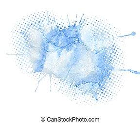 μπλε , νερομπογιά