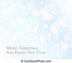 μπλε , νιφάδα , κάρτα , μωρό , φόντο , τρυφερός , αγαθός διακοπές χριστουγέννων