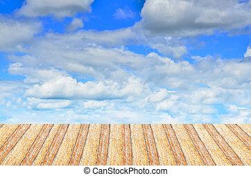 μπλε , ξύλο , ουρανόs , πλοκή