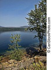 μπλε , παγετώδης , λίμνη