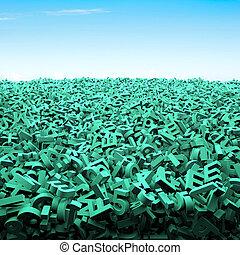 μπλε , πελώρια , γενική ιδέα , μεγάλος κλίμα , γράμμα , πράσινο , δεδομένα