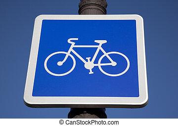 μπλε , ποδήλατο , ουρανόs , φόντο , σήμα