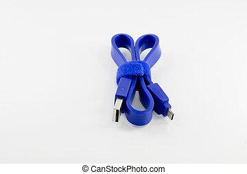 μπλε , πρίζα , usb έλιγμα