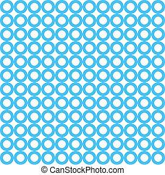 μπλε , πρότυπο , κύκλοs , vecto, seamless