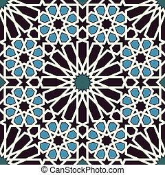 μπλε , πρότυπο , μαύρο , seamless, αραβούργημα