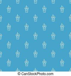 μπλε , πρότυπο , μικροβιοφορέας , seamless, σόδα