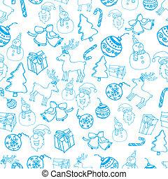 μπλε , πρότυπο , vec, xριστούγεννα , seamless