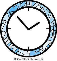 μπλε , ρολόι , εικόνα