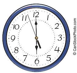 μπλε , ρολόι , τοίχοs