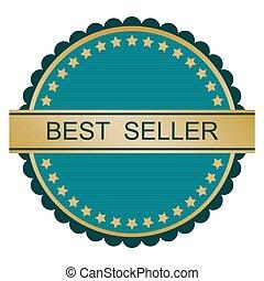 μπλε , σήμα , χρυσός , καλύτερος , πωλητής
