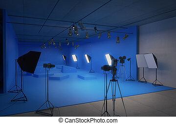 μπλε , στούντιο