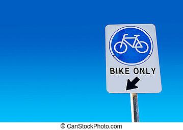 μπλε , σύμβολο , απομονωμένος , σήμα , φόντο. , ποδήλατο